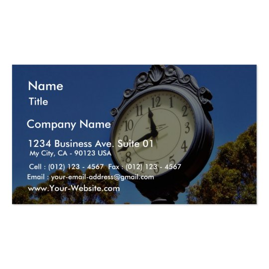 Clock Street Business Card