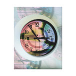 Clock  Stretched Canvas Print