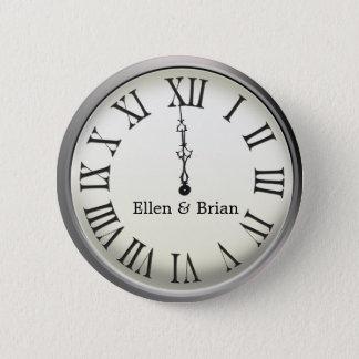 Clock Strikes Midnight New Year's Eve Pinback Button