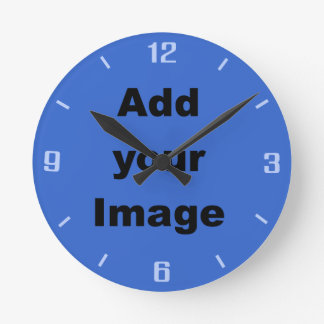 Clock template - Blues - Add your Image
