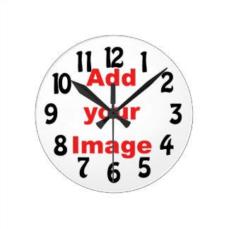 Clock template - Fun - Add your Image