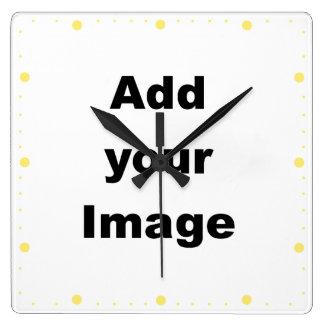 Clock template - Minute markers lemon - Add Image