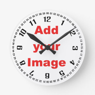 Clock template - Numbers & seconds- Add your Image