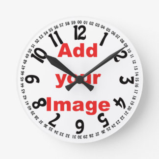 Clock template - Open face - Add your Image