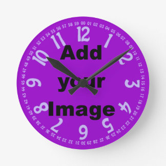 Clock template - Open face lilac - Add your Image