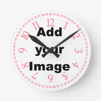 Clock template - Open face pink - Add your Image