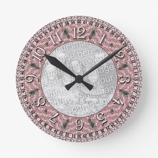 Clock template - Red Vines - Add image