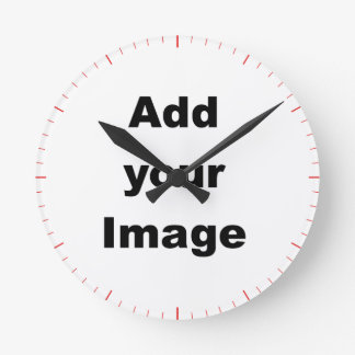 Clock template - Seconds markers pink - Add Image