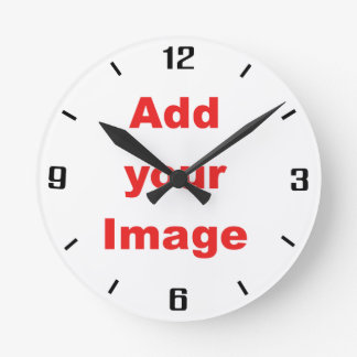 Clock template - Simple - Add your Image
