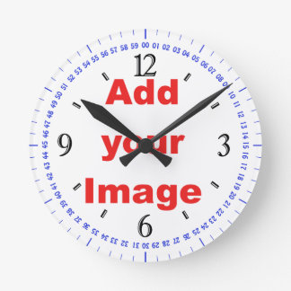 Clock template - traditional black- Add your Image
