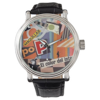 """Clock """"the color of the interior """" wrist watch"""
