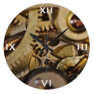 Clock: Tic Tac Wheels. Watch Mechanism Large Clock