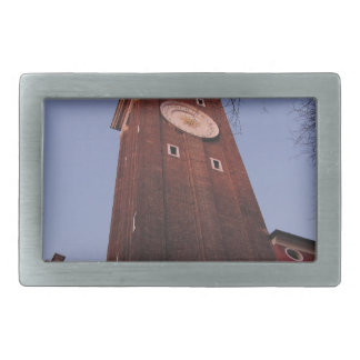 Clock tower at Santi Apostoli church in Venice Rectangular Belt Buckle