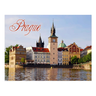 Clock Tower by the Vltava river, Prague Postcard