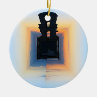 Clock Tower Ceramic Ornament