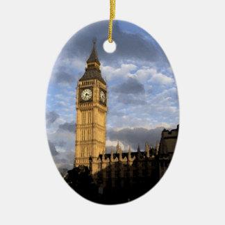 Clock Tower Christmas Tree Ornaments