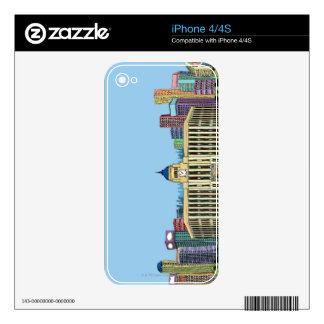 Clock Tower Decal For iPhone 4