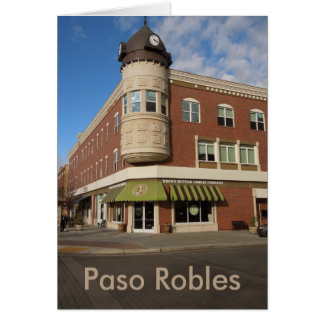 Clock Tower, Downtown Paso Robles, California Card