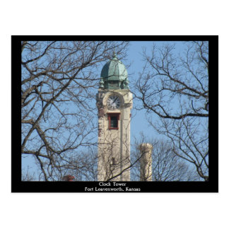 Clock Tower Fort Leavenworth, Kansas Postcard