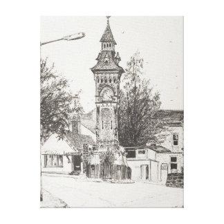 Clock Tower Hay on Wye 2007 Canvas Print