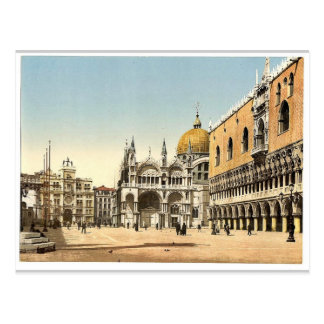 Clock tower, St. Mark's, and Doges' Palace, Piazze Postcard