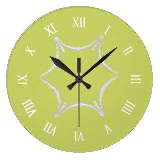 Clock Victorian yellow luxery