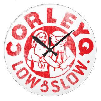 Clock w/ CorleyQ logo (3 sizes/shapes)