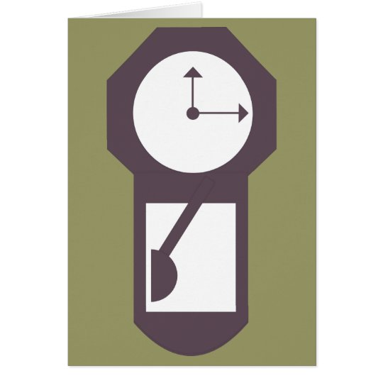 Clock - Wall Clocks - Time Hours Minutes Card