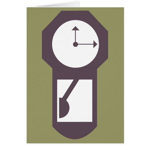 Clock - Wall Clocks - Time Hours Minutes Greeting Card