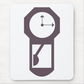 Clock - Wall Clocks - Time Hours Minutes Mouse Pad