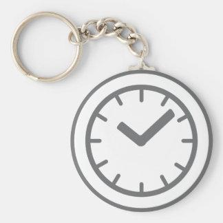 clock watch basic round button keychain
