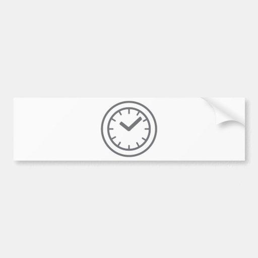 clock watch bumper stickers