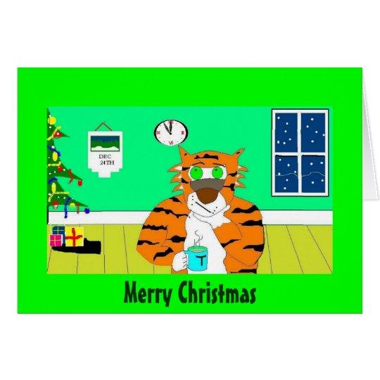 clock watcher, Merry Christmas Card