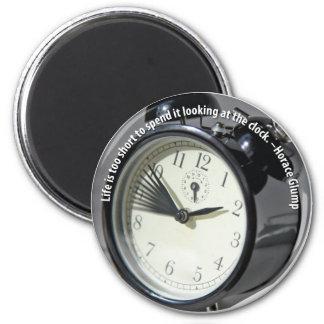Clock Watching 2 Inch Round Magnet