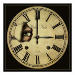 Clock Watching Small Poster Print