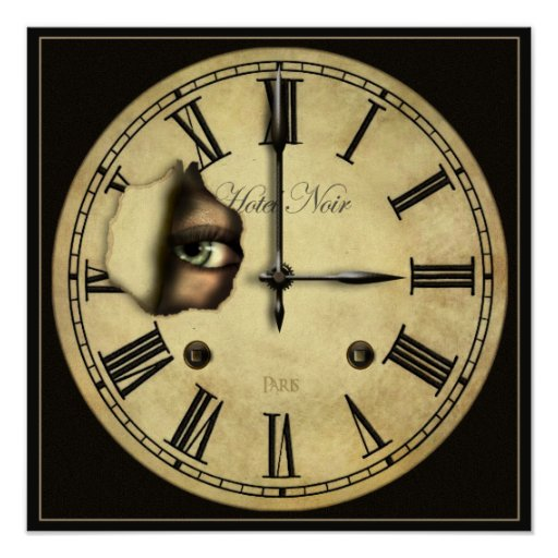 Clock Watching Small Poster Print