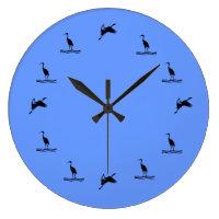 Clock - Water Birds  graphic