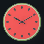 "Clock watermelon<br><div class=""desc"">Clock of wall with form of the interior of the watermelon,  perfect for the kitchen</div>"