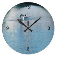 Clock - Western Grebe in harbor