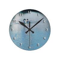 Clock - Western Grebe in harbor v3