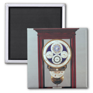 Clock with four dials and the signs of the 2 inch square magnet