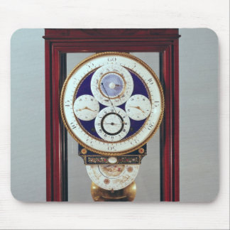 Clock with four dials and the signs of the mouse pad