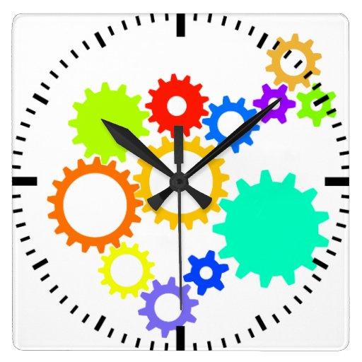 Clock Work Colors Wall Clock