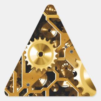Clock Works Triangle Sticker