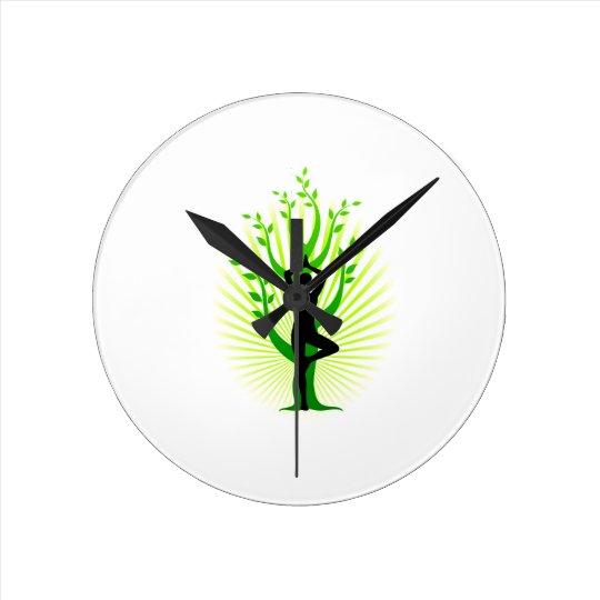 clock, yoga round clock