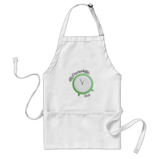Clocked Out Adult Apron