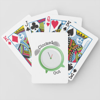 Clocked Out Bicycle Card Deck