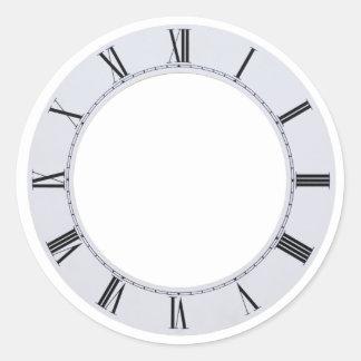ClockFace060709 Pegatina Redonda