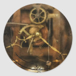 Clockmaker - A sharp looking time piece Round Stickers