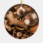 Clockmaker - Gears Double-Sided Ceramic Round Christmas Ornament